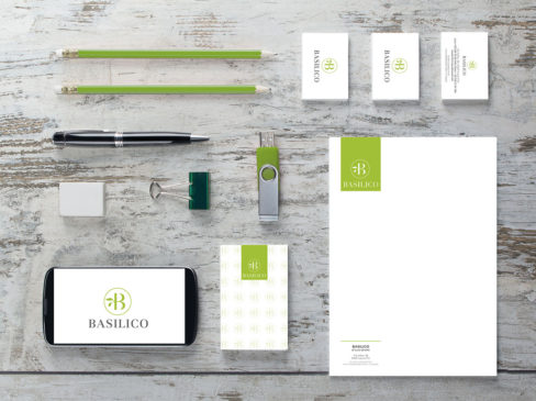 Kappadue, stampa, digitale, branding, mockup,logo, carta intestata, foglio lettera, borsa, shopper, biglietto da visita, busta, blocco notes, pubblicità, advertising, immagine coordinata, marketing, basilico