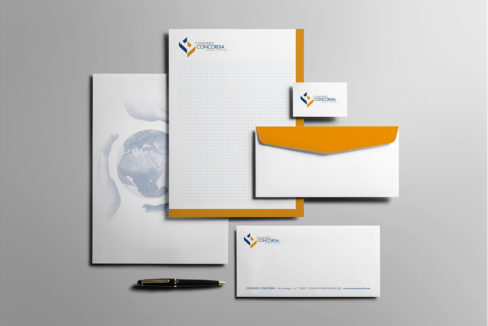 Kappadue, stampa, digitale, branding, mockup,logo, carta intestata, foglio lettera, borsa, shopper, biglietto da visita, busta, blocco notes, pubblicità, advertising, immagine coordinata, marketing, consorzio concordia